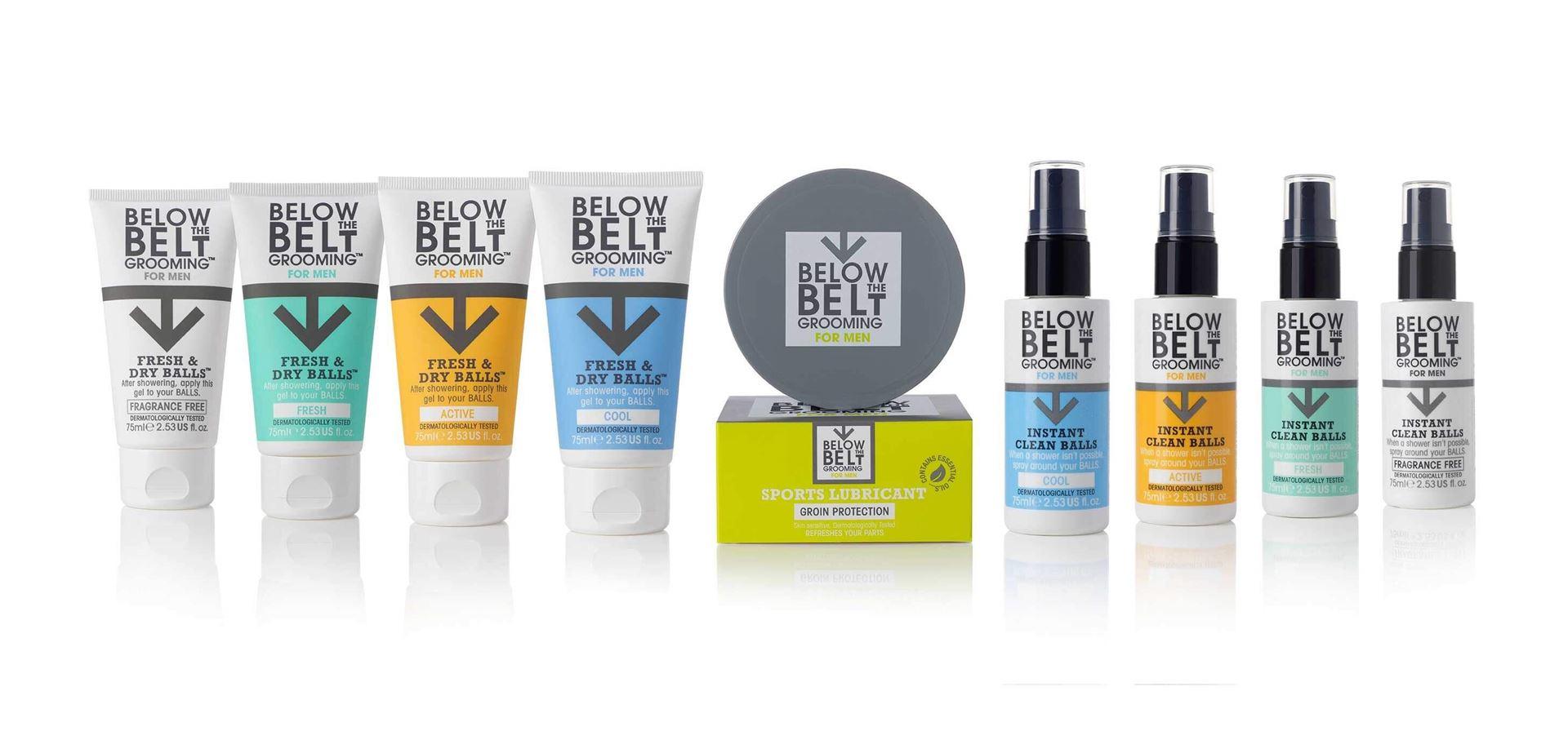 Below the belt grooming range